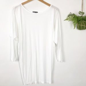 Vince. Solid White Dolman Tunic Top